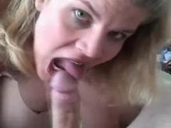 She blows cock and spit cum out