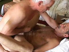 Two gay geezers have sizzling hot anal and oral sex