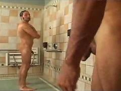 My friend and me in the shower