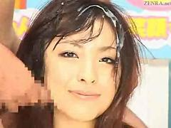 Japanese newscasters get their chance to shine on bukkake tv film 2