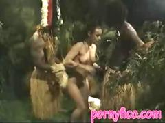white girl fucked in jungle