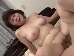 Horny Asian MILF receives a fat meat stick