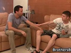 Brothers hot boyfriend gets seduced on a couch