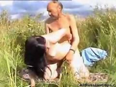 Russian Teen Fucks Homeless Oldman Outdoors russian cumshots swallow
