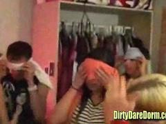 Girls dance in dorm room