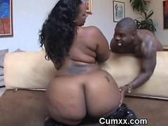 Big Ass Chubby Ghetto Sucking Black Cock