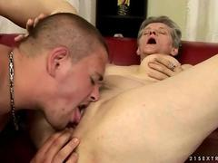 Ugly busty granny gets fucked hard in their vaginas