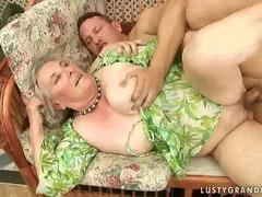 Very old grandma getting fucked