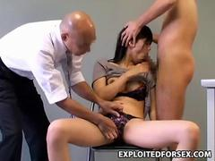 Asian honey gets fucked on Spycam during police interrogation