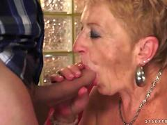 Lusty mature woman gets her holes fucked hard