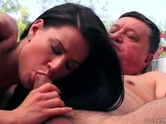 Grandpa fucks hot young girl