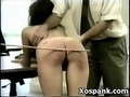 Amazing Spanking Gal Explicit Makeout