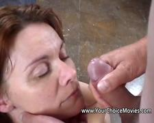 Homemade facial and cumshot compilation