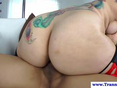Shemale amateur getting rubbed fucking pussy