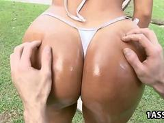 Excellent ass Angelina takes a hard dick