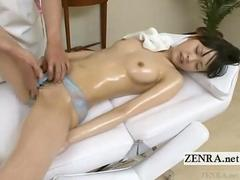 Subtitled CMNF Japanese schoolgirl indecent massage