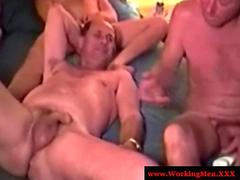 Mature straight bears jerk and gay play