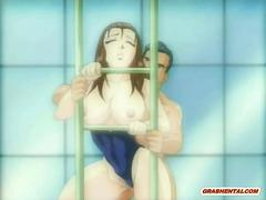 Swimsuit hentai bigboobs babe doggystyle fucked hard