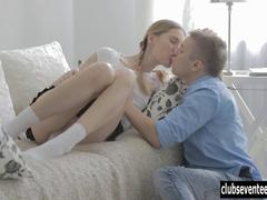 Sweet teen Eva gets fucked