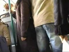 Public groping recorded with a mobile camera