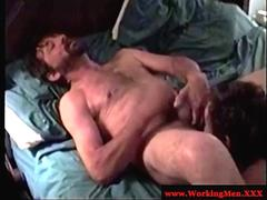Mature gay guy rimming and giving head