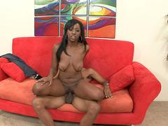BBC loving ebony gets in bed with cockzilla for a thrilling cock riding marathon