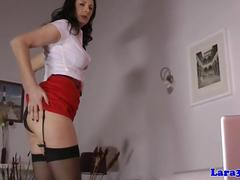 Brit mature in stockings deepthroating