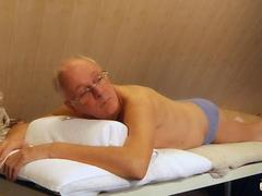 Old cock massage and fuck with young sexy girl