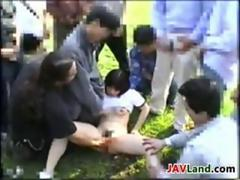Japanese Girl Being Fingered Outside