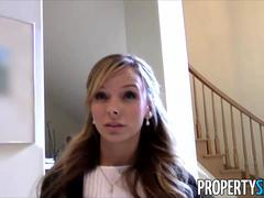 PropertySex Hot petite real estate agent tricked into fucking on camera