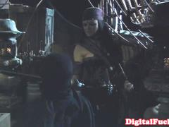 Pirate orgy after the battle has ended