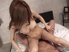 Asian brunette slut gets fucked doggy style