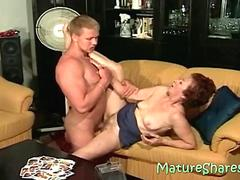 70plus Granny Minna with horny young meat stick