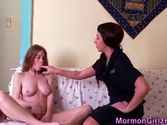 Showered mormon eaten out