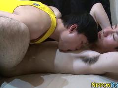 Asian twinks dick stroked