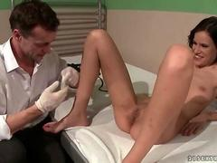 Doctor punishing and fucking cute brunette