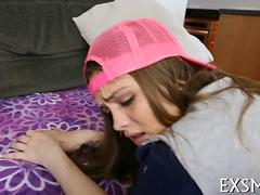 Cute teen with a baseball cap gets plowed