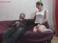 Uncut backstage fun with chubby czech wife