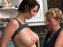 Grannies and Teens Hot Lesbian Sex Compilation