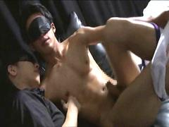 Some blindfolds and fetish gay play here