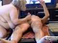 Aged amateur couple rimming sucking and fucking