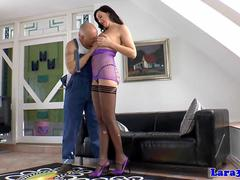 Mature british lingerie slut fucks workingman