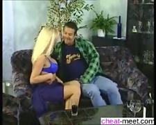 Blonde Milf Kelly Trump sucks off a shaved cock and fucks