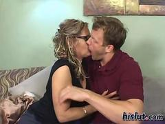 Busty MILF Kelly got lucky with a hot young guy