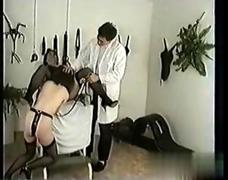Wild bdsm session with two frisky ripe ladies