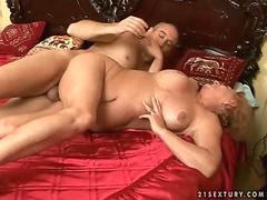 old couple enjoying hot sex video