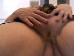 Mature bbw with hairy pussy and big round ass