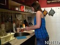 Small tits chick gets fucked in her kitchen
