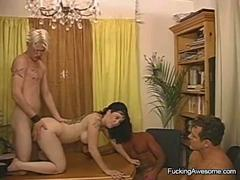Horny Couple Have A Foursome With Bisex Guys