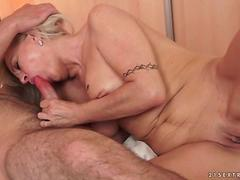 Granny making love with her young boyfriend